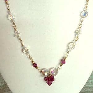 Jewelry - 14k GF super sparkler in white/purple crystals
